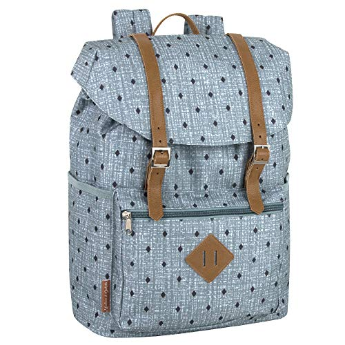 Front Loading Polka Dot Drawstring Backpack for Women & Girls for School, Work, and Travel
