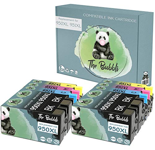 The Bubbli Original | 950XL 951XL Cartucho de Tinta Compatible para HP OfficeJet Pro 8610 8620 8600 8600 Plus 8100 8630 276dw 251dw 8615 8625 (10-Pack)