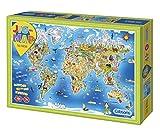 Gibsons - Puzzle (250 Piezas), diseño de mapamundi
