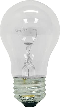 GE Lighting 76579 Appliance 40-Watt, 415-Lumen A15 Light Bulb with medium
