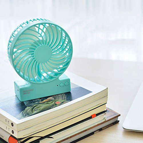 Mini-ventilator, draagbare ventilator, klein, oplaadbaar, USB, draagbare tas voor slaapzak, studenten, bureau, baby, stille ventilator, reisventilator