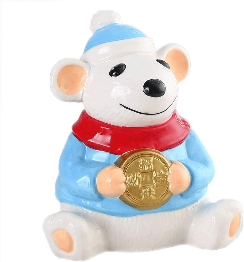 WUHE Money Banks Cheap 70% OFF Outlet Save money Year of Ceramic The Piggy Rat Bank