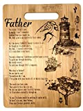 Father Gift - Bamboo Cutting Board Design Poem Father Gift Fathers Day Gift Birthday Christmas Gift Engraved...