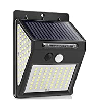 LEDソーラーライト屋外、ソーラーランプPIRモーションセンサーウォールライト防水ソーラーサンライトパワーガーデン街路灯