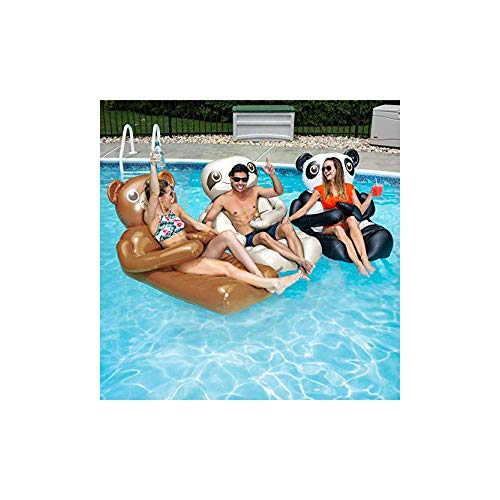 Swimways Huggable Over Sized Sloth Swimming Pool Float with Cup Holders, Gray