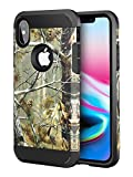 iPhone Xs Case Camo, iPhone X Case Camo, iPhone Xs / X Dual Layer Camouflage Tree Shockproof Protective Case TPU Bumper Hard PC Back Case Cover Compatible Apple iPhone Xs / X 5.8 inch (Tree Print)