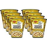 Maggi Food Travel Cup Schweizer Käsnudeln mit würzigem Emmentaler-Käse und knackigen Croûtons, 8er Pack (8 x 71g) (Lebensmittel & Getränke)
