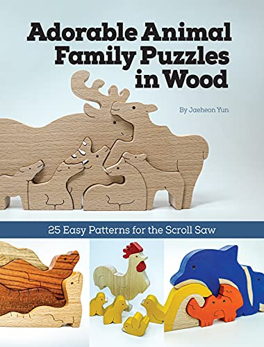 Compare Textbook Prices for Adorable Animal Family Puzzles in Wood: 25 Easy Patterns for the Scroll Saw Fox Chapel Publishing Cute, Simple Projects for Freestanding Sloths, Koalas, Unicorns, Cats, and More; Full-Size Designs First Edition ISBN 9781497102057 by Jaeheon Yun