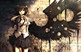 Victory Style Nightcore Angel with A Shotgun Poster Music Poster Print Nightcore Artwork No Frame Poster Modern Canvas Prints Wall Art Paintings Ready to Hang Home Decorations (A4 Paper 8.5x11)