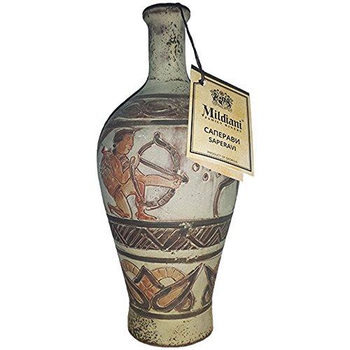 georgischer Rotwein im Tongefäß Antik Style Jagt Motiv 0,75L Wein Saperavi