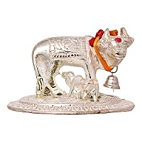 Kamdhenu Cow and Calf Showpiece not only bring spirituality to your house but also can also be treated as an article to decor your home A PERFECT GIFT : It is a Best Gift for Marriage Anniversary , Parents , Mothers day , Wedding Return Gift , Birthd...
