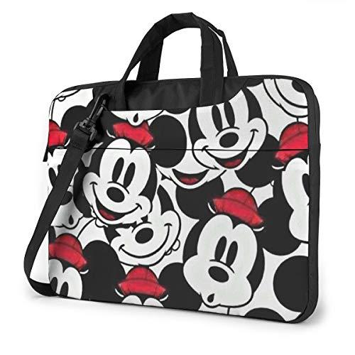 Mickey Mouse Laptop Tote Bag Tablet Maletín Ultra Portátil Portátil Un Hombro A Prueba de Golpes Portátil 15.6 Pulgadas