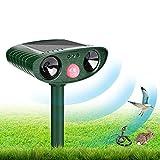 Ultraschall Abwehr Katzenschreck, Tiervertreiber Solar Batteriebetrieben, Wasserdicht Katzenschreck...