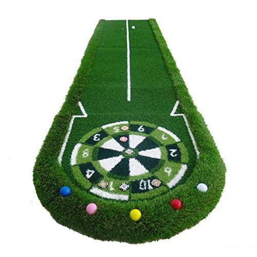 Golf Putting Golf Golf Putters Mats Práctica de golf Mat Mat de práctica personal Estera al aire libre o interior Ocio Fácil plegado Poner la colchoneta para exteriores al aire libre (Color: Verde, Ta