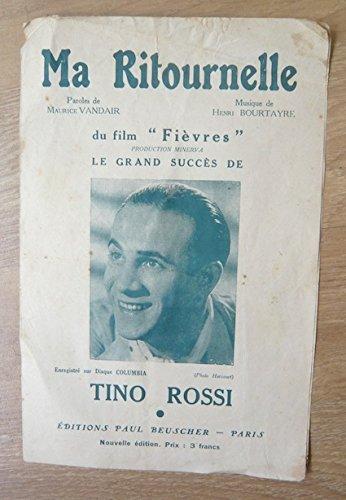 Partition de Ma Ritounelle (1941) - Tino Rossi