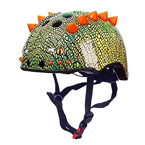 Shengsheng Dinosaurio 3D Modelo Casco, sandía niños Casco de Montar los Deportes del Casco de Patinaje sobre Ruedas Engranaje de Ciclo protección de la Cabeza
