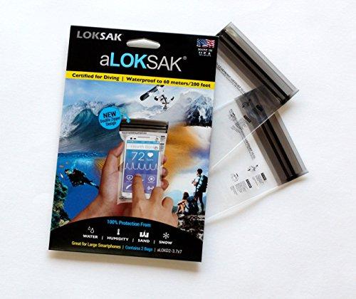 LOKSAK Aloksak Sac de Protection pour Apple Double Fermeture Éclair et Sac étanche Transparent Transparent 3 x 6-inch
