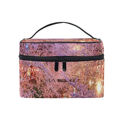 Trousse de maquillage La fleur de Sakura et son importance culturelle Trousse de toilette Portable Grand trousse de toilette pour femmes/filles Voyage
