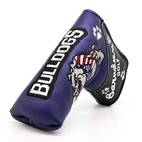 Bulldog Putter Cover Headcover Golf Blade Putter Club Protective for Scotty Cameron Taylormade Odyssey Magnet Thick Synthetic Leather Golf Equipment Durable Protector
