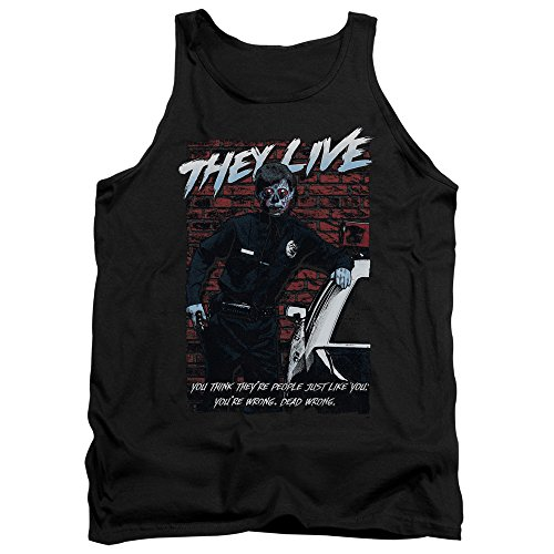 They Live - - Dead Wrong Débardeur Hommes, Small, Black