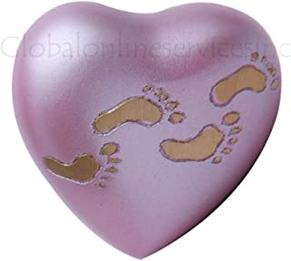 Home Decors Child Sutton Rose Heart Keepsake Cremation Urn, Brass Heart Urns for Ashes USA