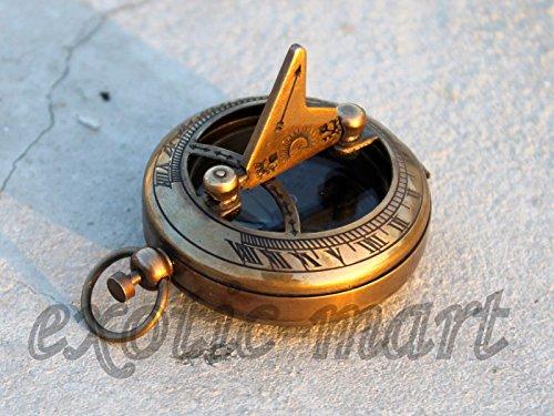 Aluminium OutdoorCamping-Wander-Navigation Kompass Mit Schlüsselanhänger DRP