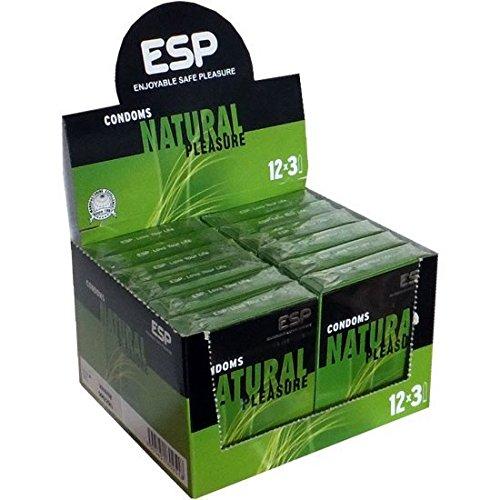 ESP Natural, 12x3 natuurlijke condooms, veganistisch gemaakt, speciale aanbieding