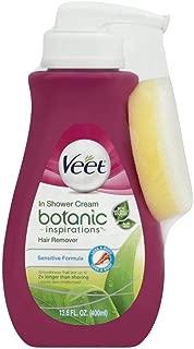 Veet In Shower Hair Removal Cream, Botanic Inspirations, Legs & Body, 400 ml (Pack of 7)