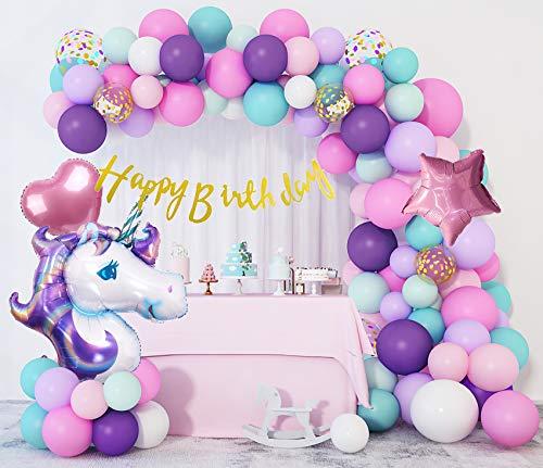 207Pcs Unicorn Birthday Balloons Arch Garland Kit 40