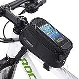 ROSWHEEL 自転車 携帯電話 バッグ 5.5 インチ タッチ 画面 トップ フレーム チューブ 収納 バッグ サイクリング Mtb ロード バイクバスケット 自転車 アクセサリー 電話 ケース 12496(5.5 インチ 電話 用) ブラック