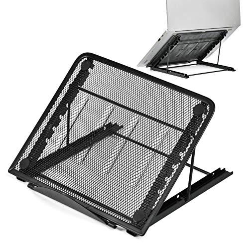 YOTINO Supporto per Laptop Pieghevole Multi-Angolo Regolabile, Portatile, ventilato, Universale, Leggero e Regolabile, Supporto ergonomico, Adatto per Tablet, Computer di Piccole Dimensioni - Nero