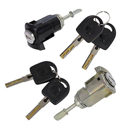 2x Schließzylinder, Türschloss vorne links + rechts inkl. Schlüssel