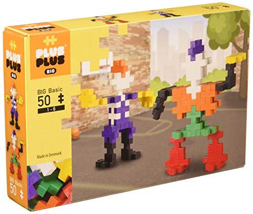 Plus-Plus - Big Basic Boîte de 100 Pièces Jeux de Construction, PP3215