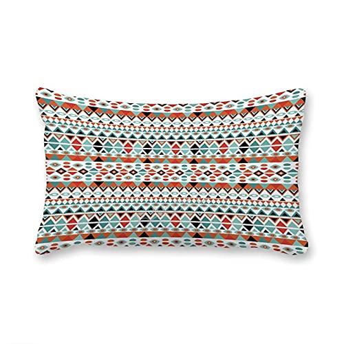 BAKOKO Fundas de almohada con cremallera oculta, diseño étnico, funda de cojín decorativa para el hogar, cama, sofá, sala de estar, 30 x 50 cm