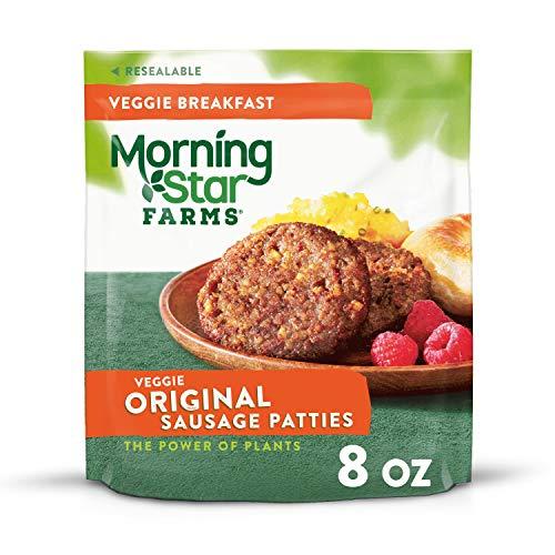 MorningStar Farms, Veggie Breakfast Sausage Patties, Original, Vegetarian, 8oz (6 Count)