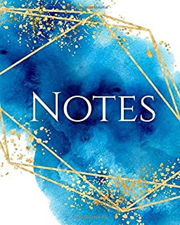 NOTES: Ocean Watercolor Luxe Notebook - Journal - Diary (Lined)
