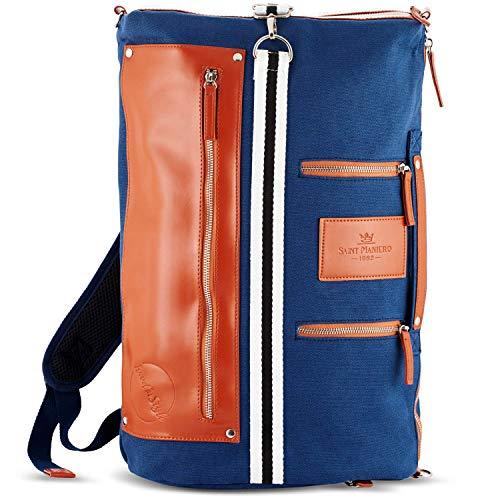 Saint Maniero Rucksack Damen Rucksack Herren Schulrucksack Mädchen Schulrucksack Jungen Laptop Backpack Tagesrucksack Daypack Laptoprucksack Uni Rucksack Uni Tasche Schultaschen (Navy-Blau)