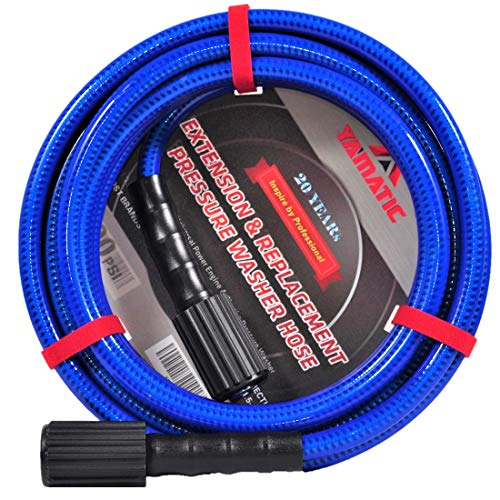 YAMATIC Ultra Flexible Pressure Washer Hose 3200 PSI 1/4