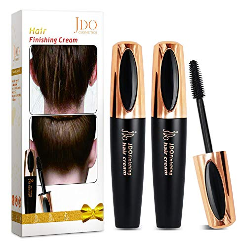 JDO Hair Finishing Stick, 2 Pack Small Broken Hair Finishing Cream Flyaway Feel Stick Hair Styling Wax Stick Hair Gel Moisturizing and Shiny Not Greasy Fixing Bangs Stereotypes Cream