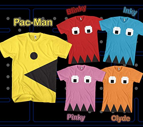 Adults Low Cost, Budget Pacman Costume Set for Group Dress-Up