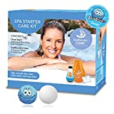 Silk Balance Spa Starter Kit, SILKBALANCE Gems Pods for Spas with Clean Start (8 oz) and ScumSponge Oil-Absorbing Sponge for Hot Tub & Pool, Natural Self-Adjusting pH Water Care System, 4 Month Supply