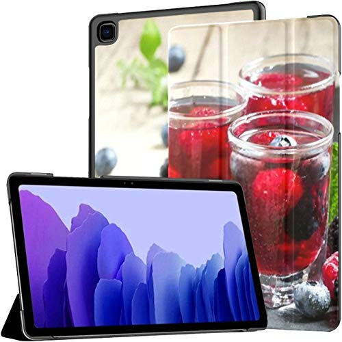 Case For Samsung Galaxy Tab A7 10.4 Inch Tablet 2020(sm-t500/t505/t507), Fresh Berry Drink Blueberries Blackberries Raspberries Multiple Angle Stand Cover With Auto Wake/sleep