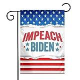 Impeach Biden Garden Sign, Courtyard Sign, Vertical Flag Garden, Four Seasons Courtyard Sign, Outdoor Decoration.