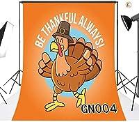 HDは 感謝必ずハッピー感謝祭オレンジ、トルコの写真の背景のカスタマイズハロウィンパーティーの写真の背景メーカープロップGN004て7x10ft