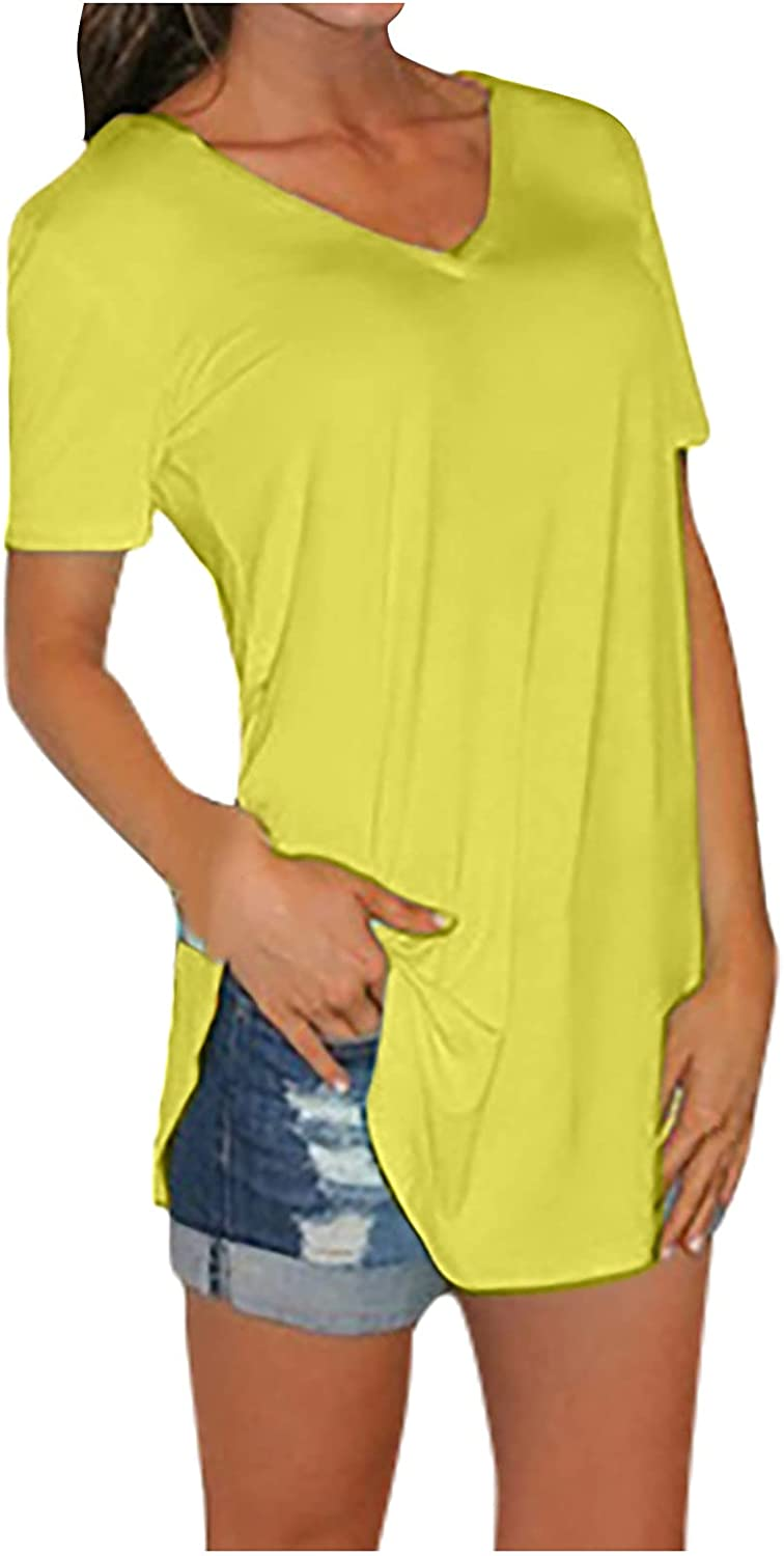 Summer Tops for Women Funny Graphic Vintage Short Sleeve O-Neck Casual T-Shirts Loose Basic Blouse Workout Comfy Tunic