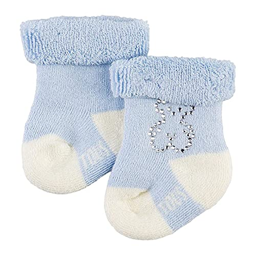 TOUS BABY - Set 2 calcetines lisos para tu Bebé. Oso Strass (0/6M)