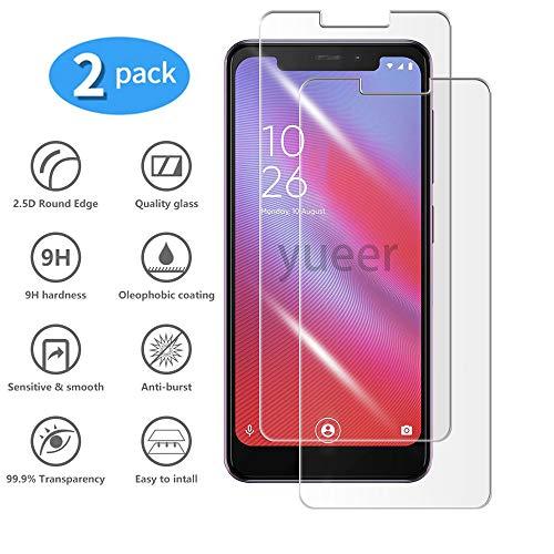 yueer [2-pack] voor Vodafone Smart N10 Screen Protector, Screenprotector van gehard glas-[Ultra dun] [High Definition] [Zonder bellen] [Eenvoudige installatie] [Anti Scratch].