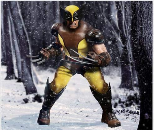 Animado modelo de personaje estatua figurilla de tela de Wolverine segunda generación móvil en caja hecha a mano modelo de recogida de modelo de 16cm