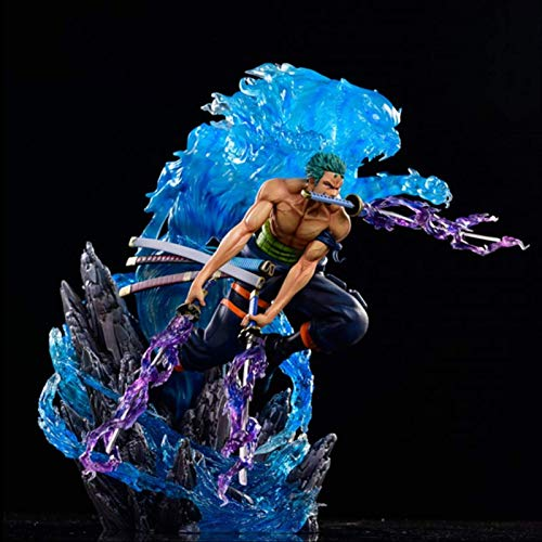 Anime One Piece Roronoa Zoro Battle Ver 2 Head Gk Statue Action Figure Collect Model Gift Toy 33cm