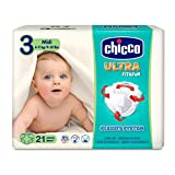 Chicco Chicco Ultra Fit&Fun - Pack 21 pañales ultra absorbentes, Talla 3, 4-9 kg (Midi) 21 ud - Pañales Maxi 4-9 kg 21 ud